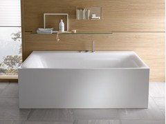 - Contemporary style rectangular steel bathtub BETTELUX I SILHOUETTE SIDE - Bette