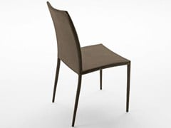 - Upholstered tanned leather chair DELFINA SR | Chair - Midj