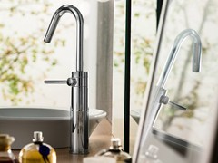 - Chrome-plated single handle washbasin mixer PLUS | Single handle washbasin mixer - Carlo Nobili Rubinetterie