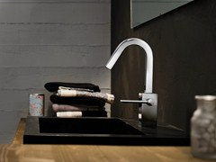 - Chrome-plated washbasin mixer with automatic pop-up waste CUBE | Washbasin mixer - Carlo Nobili Rubinetterie