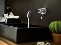 - Wall-mounted chrome-plated washbasin mixer CUBE | Wall-mounted washbasin mixer - Carlo Nobili Rubinetterie
