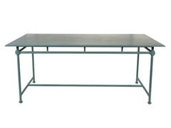 - Rectangular aluminium garden table 1800 | Rectangular table - Tectona