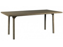 - Rectangular resin garden table SHANGHAI | Rectangular table - Tectona
