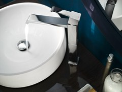 - Chrome-plated washbasin mixer with automatic pop-up waste SOLIDO F | Chrome-plated washbasin mixer - Carlo Nobili Rubinetterie