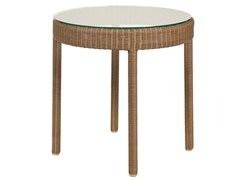 - Round resin garden side table SHANGHAI | Side table - Tectona