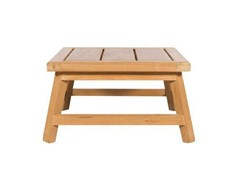 - Low square teak garden side table SOMERSET | Square coffee table - Tectona