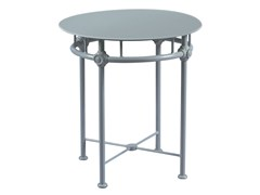 - Low round aluminium garden side table 1800 | Round coffee table - Tectona