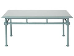 - Low rectangular aluminium garden side table 1800 | Rectangular coffee table - Tectona