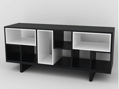 - Double-sided lacquered wooden sideboard MÉLI-MÉLO | Sideboard - MALHERBE EDITION