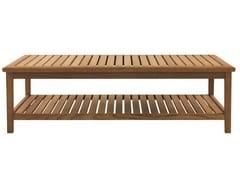 - Low rectangular teak garden side table DUXFORD | Rectangular coffee table - Tectona