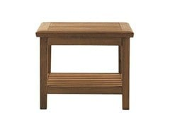 - Low square teak garden side table DUXFORD | Square coffee table - Tectona