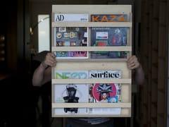 - Wooden magazine rack LE DOUBLE - MALHERBE EDITION