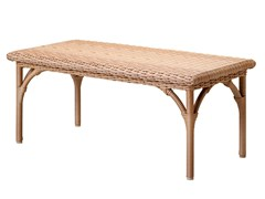 - Low rectangular resin garden side table JAVA | Rectangular coffee table - Tectona