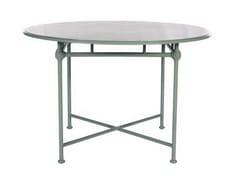 - Round aluminium garden table 1800 | Round table - Tectona