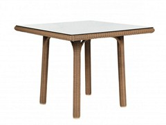 - Square resin garden table SHANGHAI | Square table - Tectona