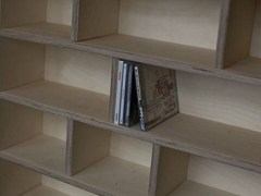 - Custom multi-layer wood CD rack ETAGÈRE À CD - LAQUÉE - MALHERBE EDITION