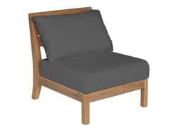- Sectional modular teak garden armchair EXETER | Sectional garden armchair - Tectona