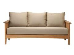 - Recliner 3 seater teak garden sofa GOA | 3 seater sofa - Tectona