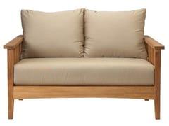 - Recliner 2 seater teak garden sofa GOA | 2 seater sofa - Tectona