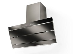 - Wall-mounted Glass and Stainless Steel cooker hood ORIZZONTE PLUS | Glass and Stainless Steel cooker hood - FABER