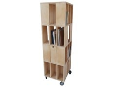 - Bookcase with drawers with casters BUILDING 4M - MALHERBE EDITION