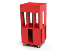 - Lacquered storage unit with casters BUILDING 3M LAQUÉ - MALHERBE EDITION