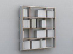 - Lacquered floating custom bookcase WALL BOOK | Floating bookcase - MALHERBE EDITION