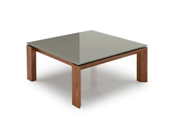 - Square wood and glass coffee table OMNIA | Coffee table - Calligaris