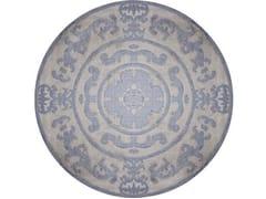 - Handmade round rug POMPADOUR BLUE CIRCLE - EDITION BOUGAINVILLE