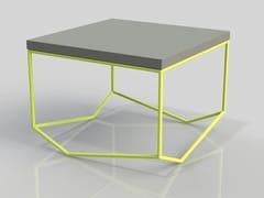 - Square cement coffee table LA BÉTON CARRÉE - MALHERBE EDITION