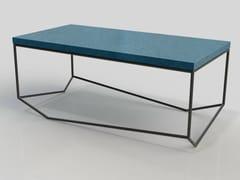 - Rectangular cement coffee table LA BÉTON RECTANGULAIRE - MALHERBE EDITION