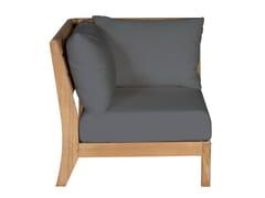 - Corner teak garden armchair EXETER | Corner garden armchair - Tectona