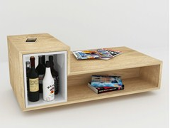 - Rectangular multi-layer wood coffee table BAR LB2 - MALHERBE EDITION