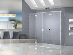 - Rectangular crystal shower cabin PURA 5000 NEW | Rectangular shower cabin - DUKA