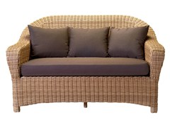 - 2 seater resin garden sofa JAVA | 2 seater sofa - Tectona