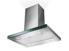 - Glass and Stainless Steel island hood LOOK | Island hood - FABER