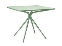 - Square aluminium garden table GRASSHOPPER | Square table - Tectona