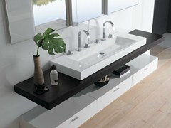 - Countertop double rectangular washbasin BETTEAQUA | Double washbasin - Bette