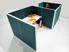 - Sound absorbing workstation screen ALUMI ALCOVE - Abstracta