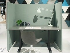 - Sound absorbing free standing workstation screen SONEO | Free standing workstation screen - Abstracta
