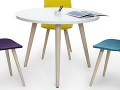 Tavolo rotondo in legno per bambini