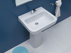 - Pedestal ceramic washbasin COMO 72   Pedestal washbasin - CERAMICA FLAMINIA