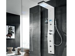 - Multifunction steel shower panel for chromotherapy ETOILE 160 - GRUPPO GEROMIN