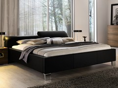 - Leather double bed with adjustable headrest ELUMO II | Bed with adjustable headrest - Hülsta-Werke Hüls
