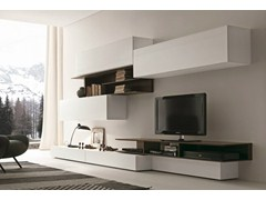 - Sectional wall-mounted TV wall system I-modulArt - 270A - Presotto Industrie Mobili