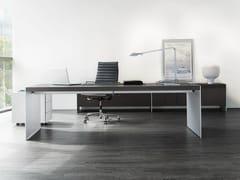 - Rectangular wooden office desk SIZE | Executive desk - RENZ