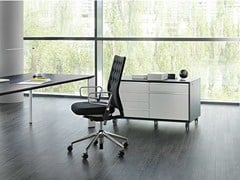 - Wooden office storage unit VERSO | Office storage unit with casters - RENZ