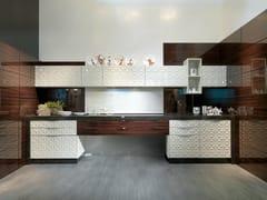 - Lacquered linear kitchen DIAMOND SCRIGNO - Bizzotto