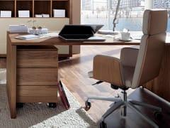 - Walnut writing desk with drawers XELO | Writing desk - Hülsta-Werke Hüls