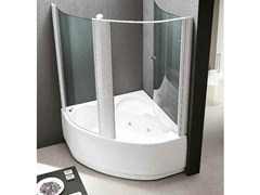 Whirlpool bathtub with shower LAGUNA BOX - HAFRO